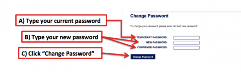 Chage Password - Step 5ABC
