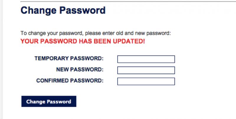 Change Password - Step 5