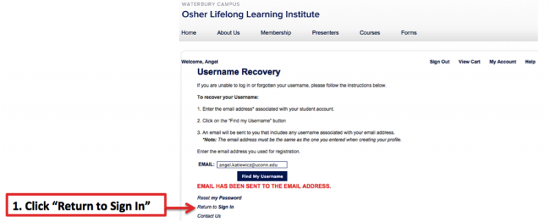 Recover Password - Step 4A