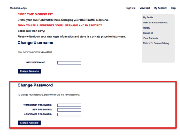 Recover Password - Step 9A